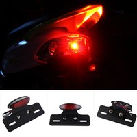 Clignotant Moteur Led Lente Motos Stop Tail Light Frein Stop Run License Lampe à LED Feu de frein à queue pour Quad ATV