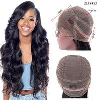 Wholesale Hair Band For Wigs - Hotselling 360 Full Lace Band Frontal Wigs For Black Women Body Wave Brazilian Virgin Human Hair 360 Lace Front Wigs With Baby Hair