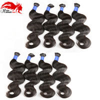 Human Hair For Micro Braids Bulk Hair No Weft Brazilian Natural Black Body Wave Human Bulk Hair Extensions