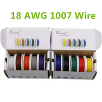 Wholesale 25m UL AWG color Mix box box package Electrical Wire Cable Line Airline Copper PCB Wire