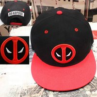 Wholesale Marvel Hats - 2016 new Fancy&Fantasy Anime Comic Marvel Deadpool Hip Hop Snapback Summer Cotton Cap Hat Baseball Cap For Men Women 3 Styles