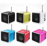 Wholesale Multi Media Mini Speaker - OLEEDA Mini Portable Speaker TD-V26 LED Music HiFi Stereo Media Audio Speakers FM Radio TF U Disk Slot multi-Speaker Digital Sound Box