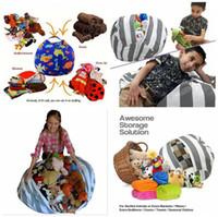 kids cotton bags venda por atacado-Stuffed Animal Saco De Feijão De Armazenamento de 18 polegadas 60 cm 33 Estilos de Algodão Canvas Bean Bag Cadeira Esférica Crianças Sacos de Armazenamento OOA3523