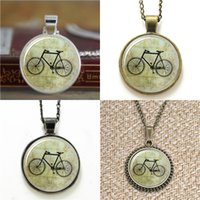 Wholesale bicycle chain links - 10pcs Vintage bicycle Glass Photo Necklace keyring bookmark cufflink earring bracelet