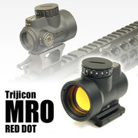 monturas trijicon al por mayor-Holográfico Trijicon MRO Style Red Dot Scope con montaje bajo y QD Mount Black