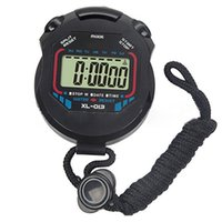 Wholesale Handheld Digital Chronograph - Wholesale- 1pc New Sport Digital Stopwatch Professional Handheld Digital LCD Sports Stopwatch Chronograph Counter Timer with Strap
