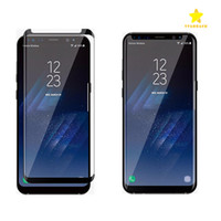 Wholesale Galaxy Matte Screen Protector - Case Friendly Scaled Down 3D Curved Tempered Glass For Samsung Galaxy S8 Samsung S8 Plus Screen Protector With Very Good Retail Box