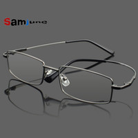Atacado- Samjune 4Colors Ultra-Light Rimless Clear Fashion Óculos Frame Memory Titanium Eyeglasses Quadros Quadros ópticos Oculos De Grau