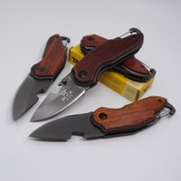 Wholesale Multifunctional Pocket Knife Tool - Mini Buck Knife X48 Multifunctional Folding Pocket Knife Outdoor Hunting Survival Knives 440 Steel Rosewood Handle Camping Knife EDC Tools