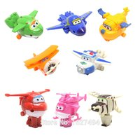Wholesale Hobby Toy Airplane - oys Hobbies Action Toy Figures 8pcs Super Wings Donnie Dizzy Mini Airplane Robot abs Action Figures Superwings Transformation Jett Figuri...