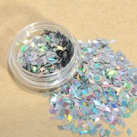 Wholesale Nail Art Paillette - 1pcs colorful New Rhombus Paillette Glitter Nails 3d Slice Powder Set DIY Design Nail Art Sequins Decoration Fashion Accessories