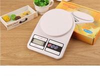 ingrosso scala di cucina vendita-Bilancia da cucina elettronica Bilancia da cucina Famiglia di ingredienti alimentari Erbe Misurazione accurata 10KG Con scatola 2018 Vendita calda DHL