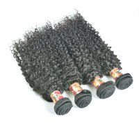Wholesale Kinky Hair Extensions Products - Malaysian Hair Products Malaysian Curly Hair Natural Black Color Malaysian Afro Kinky Curly Virgin Human Hair Extensions 4 Bundles