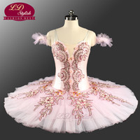 Wholesale spandex fairy costume for sale - Sugar Plum Fairy Classical Ballet Tutu Costume Performance LD0062 YAGP Competition Tutu Costumes Girls Pink Ballet Tutus