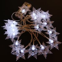 Wholesale Led Christmas Snowflakes - New 10M 100 LED Snowflake Tree String Fairy Lights Christmas Xmas Party Wedding decoration EU Plug 220V US 110V