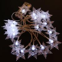 ingrosso le luci fiabesche dell'albero-Nuovo 10M 100 LED Snowflake Tree String Fairy Lights Natale Xmas Party Decorazione di nozze EU Plug 220V US 110V