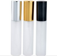 Wholesale Glass Atomizer Bottles Frosted - Wholesale 300pcs Frosted Glass 10ml 1 3oz Spray Empty Bottle fragrant liquid Fine mist pump Perfume Atomizer Refillable