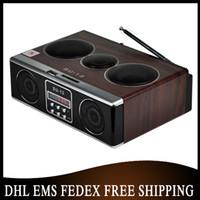 Wholesale Mini Sound Dock - Free DHL EMS 20pcs lot Mini Sound box MP3 player Mobile Speaker boombox FM SD USB