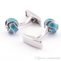 Wholesale Rare Cuff Links - Rare Spiral Knot Twist Replacement Cuff Links Wedding Groom Shirt Cufflinks Snowpear C00159 FASH