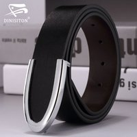 Wholesale Gifts Needle - Fashion men's belt genuine leather male strap cowhide belts man cowskin belt smooth buckle waist belt gift for man