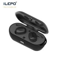 Wholesale Free Earbuds - True Wireless Twins Earphones Mini Bluetooth V4.1 Super Bass Headset Stereo Earbuds Headphones Handsfree With Mic DHL Free ship
