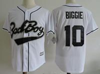 Wholesale Small Boy Shorts - 2017 New Baseball Jersey Bad Boy #10 Biggie Smalls Baseball Jersey Embroidery