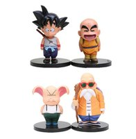 Wholesale Anime Dbz - 12-15.5 cm Anime Dragonball Z Son Goku Krillin Master Roshi Oolong Super Saiyan PVC figurine Children's toy DBZ Goku gift