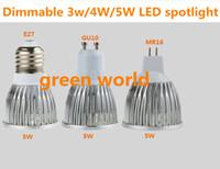 rote kerze glühbirne geführt großhandel-Dimmbares 3W / 4W / 5WLED Scheinwerferlicht E27 / GU10 / MR16 / GU5.3 Hauptqualität dc12V / AC85-265V Scheinwerferlicht Soem 10pcs