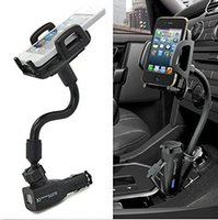 Wholesale S3 Charger Holder - Generic 2 USB Port DC Car Cigarette Lighter Mount Stand Holder Charger Charging For Samsung Galaxy S1 S2 S3 S4 S5