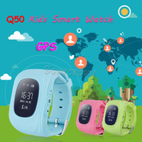 Wholesale Help Watch - For Kids Gift Q50 GPS Tracker Children Smart Watch SOS Key for Help LBS Double Location Safe Anti lost Baby Child Watch Colorful