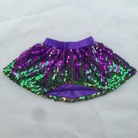 Wholesale Sequin Girls Skirts - Girl scale Skirt High quality Baby sequin dance skirt Toddler boutique Mermaid skirts 7 Colors & 6size