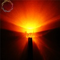 Wholesale Led 5mm White Wide Angle - Wholesale- 20pcs 5mm Pre-Wired Resistor Flat Top Orange LED 12V DC 20cm Ultra Bright Wide Angle Light Bulb Emitting Diodes DIY HOT SALE