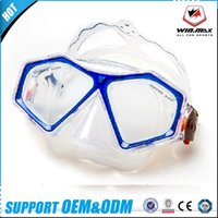 Wholesale Tempered Glass Goggles - 2017 AAA WINMAX Swimming Goggle Diving Scuba Gear Adjustable Strap Silicone Face Skirt Strap Tempered Glass Diving Mask Water Sports Outdoor