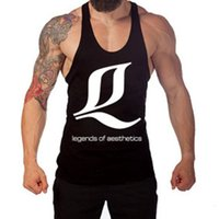Wholesale Equipment For Clothing - Wholesale- For cool Professional Men Clothes Tank Tops Muscle Strength Bodybuilding Equipment