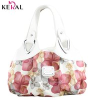 Wholesale Free Patterns For Handbags - Wholesale-Hot free shipping! new popular flower pattern PU leather women handbags shoulder bag for female messenger bags