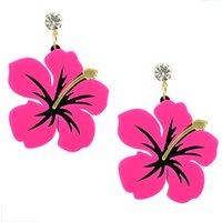 Wholesale Cheap Big Dangle Earrings - New Fashion Cheap Artificial Big Flower Earrings