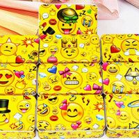 Wholesale Eco Stationery - New Arrival Yellow Tin Box 5Piece Baby Face Cookies Candy Storage Box Food Container For Tea Coffee stationery Sundries Case