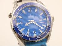 Wholesale Titanium Dress Watches - luxury brand watch men hand wind watch Skyfall titanium Planet Ocean James bond automatic movement blue dial watches men dress wristwatches