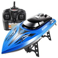 Wholesale Water Control Boats - Wholesale- New Arrival 43CM Huge Toys SYMA Q1 Remote Control Speedboat 2.4GHZ 4CH RC Boat Water Sensor Switch Cooling Device