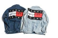 Wholesale Denims Jacket Men - brand couple denim jacket KANYE WEST YEEZUS tour ma-1 flight jacket kanji army Japanese Merch bomber men jacket