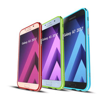 Wholesale Metal Bumpers - UltraThin Luxury Aluminum Metal Bumper Phone Protective Case For Samsung A3  A5  A7 Bumper Capa Case Cover for Samsung A3  A5  A7(2017)