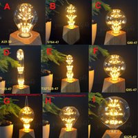 Wholesale Antique Christmas - Vintage A19 ST64 G80 G95 G125 Romantic Starry Decorative 3W Antique LED Edison Bulb Warm Soft Glow 2300K 220V 110V For Home Christmas Holida