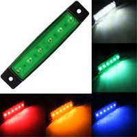 12V 24V 6 SMD LED Car Bus Truck Trailer Larry Side Marker Indicator Light Side Lamp Reboque Rear Tail Stop Turn Light