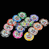 14g ton pokerchips großhandel-10pcs Fachmann-Kasino-Chip-Schürhaken-Chips 14g Lehm-Eisen-ABS Kasino-Chips Texas Hold'em-Schürhaken Monte Carlo-Kronen-Schürhaken-Chips IVU