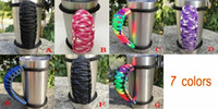 Wholesale Cord Holder Wholesale - Paracord Cup Handles Handmade Multi-color Cup Holders for 20oz 30oz Tumbler Handles Disassemble Parachute Cord DHL Free