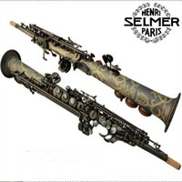 Wholesale Nickel Free Pearl - Musical Instruments Top French Selmer 54 B Soprano saxophone matte black pearl gold key free shipping