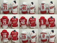 Wholesale Detroit Sweatshirt - 2017 Centennial Classic Detroit Red wings Dylan Larkin Gordie Howe Steve Yzerman Justin Abdelkader Henrik Zetterberg Hoodie Sweatshirt