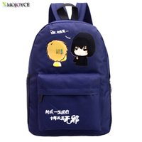 Wholesale Anime Bag Fairy Tail - Wholesale- Fairy Tail Backpack for Girls Fairy Tale Bag for School Canvas Japan Anime Printing Pattern SchoolBag for Middle School Students