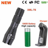 Wholesale 3x Zoom - LED Flashlight 18650 zoom torch waterproof flashlights XM-L T6 3800LM 5 mode led Zoomable light For 3x AAA or 3.7v Battery