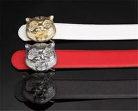 Wholesale Design Belts Mens - 2017 designer belts G mens belt senior tiger head copper buckle belt new design cowhide belts for men and women waist belt